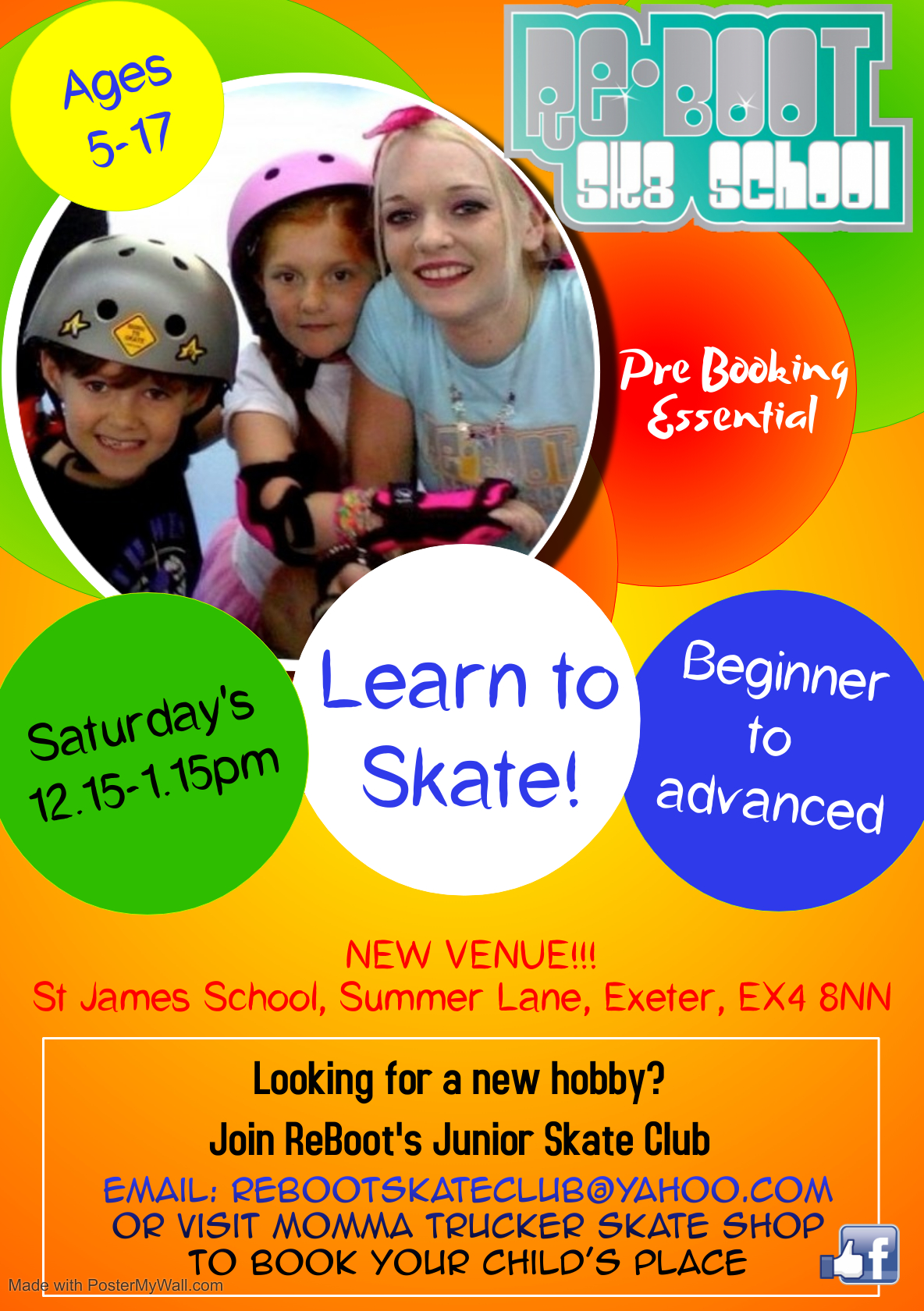 Junior Skate Club Flyer